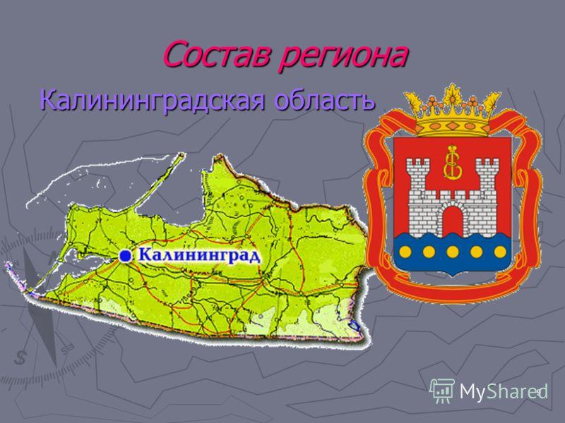 9 Состав региона Калининградская область