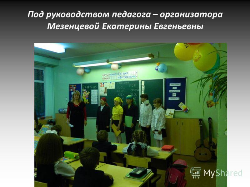 Под руководством педагога – организатора Мезенцевой Екатерины Евгеньевны