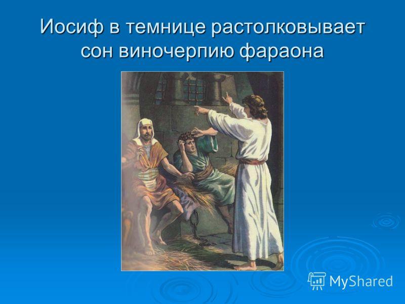 Иосиф в темнице растолковывает сон виночерпию фараона