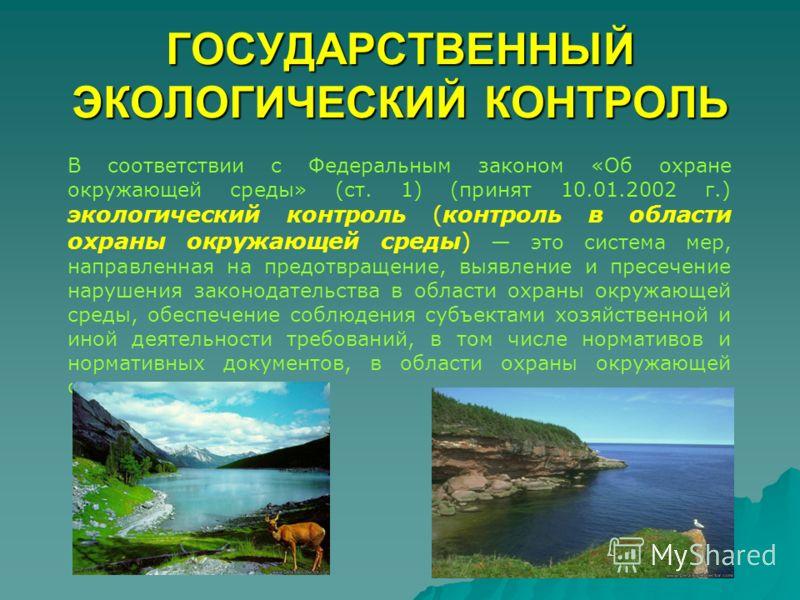 Экологический контроль объектов и окружающей среды