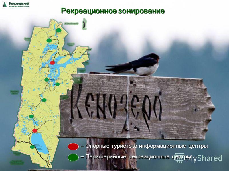 Рекреационное зонирование – Опорные туристско-информационные центры – Периферийные рекреационные центры