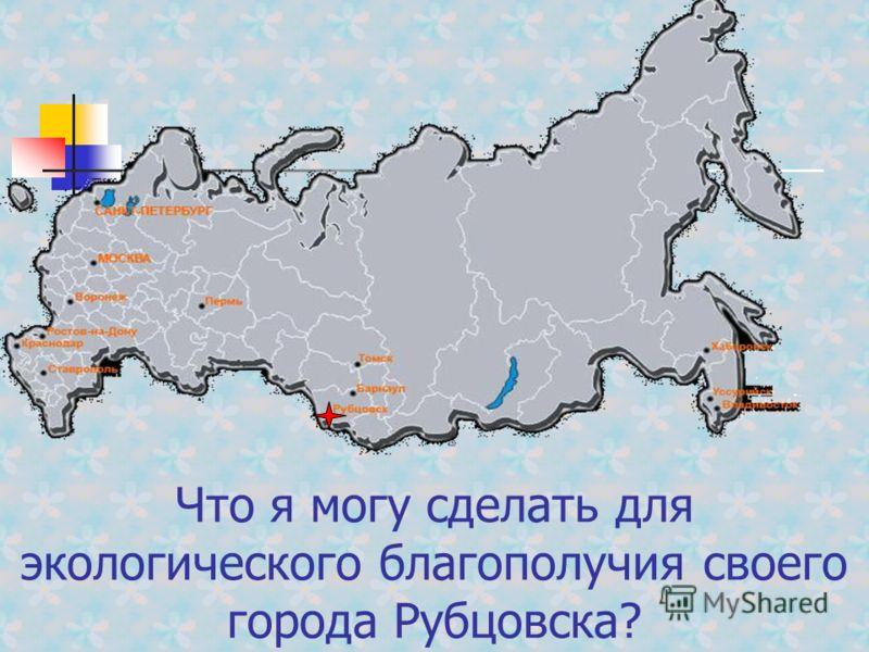 Что я могу сделать для экологического благополучия своего города Рубцовска?