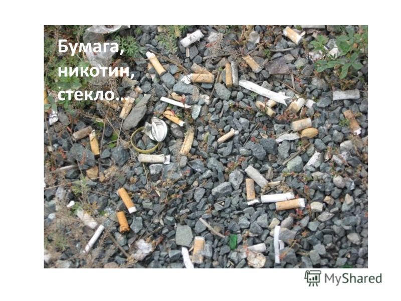 Бумага, никотин, стекло…