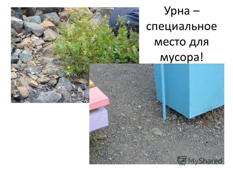 Урна – специальное место для мусора!