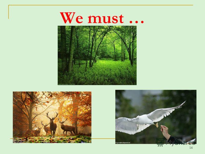 16 We must …
