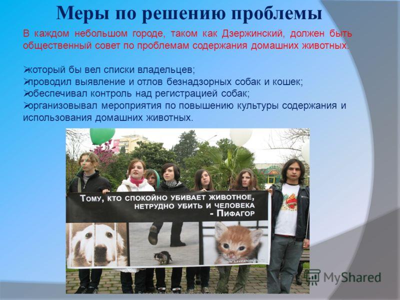 Меры по решению проблемы Бородкин Игорь
