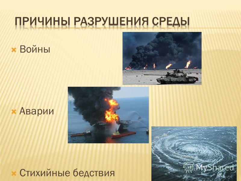 Войны Аварии Стихийные бедствия
