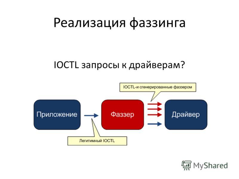 Реализация фаззинга IOCTL запросы к драйверам?