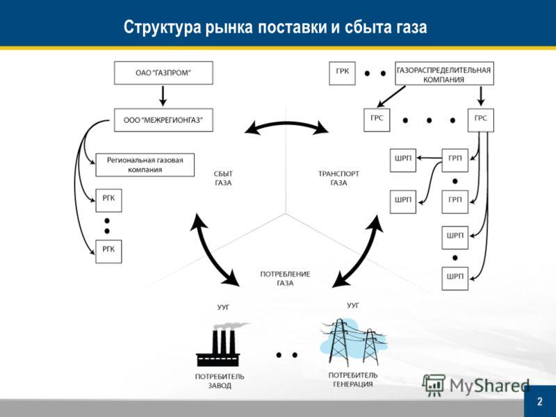 2 Структура рынка поставки и сбыта газа