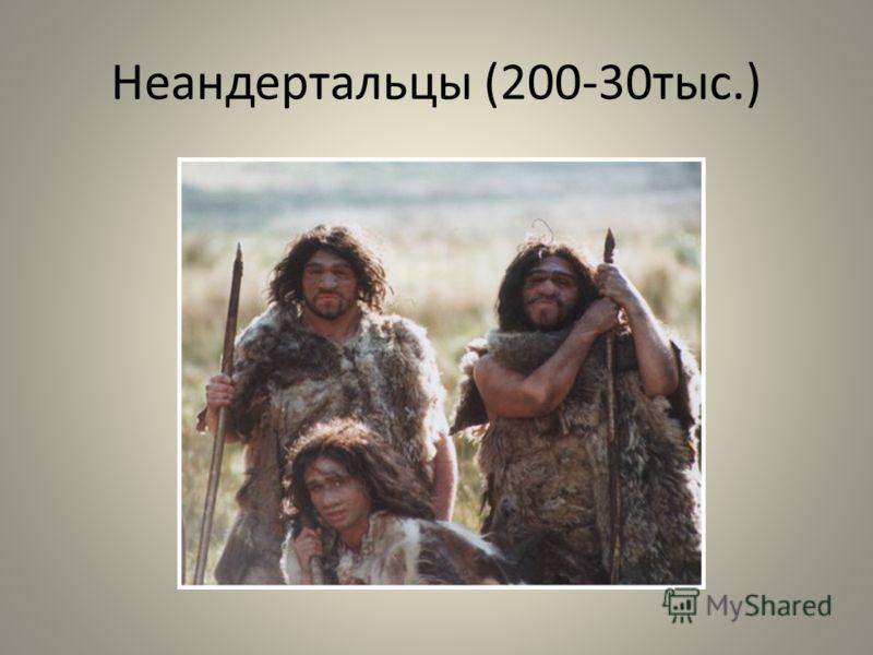 Неандертальцы (200-30тыс.)