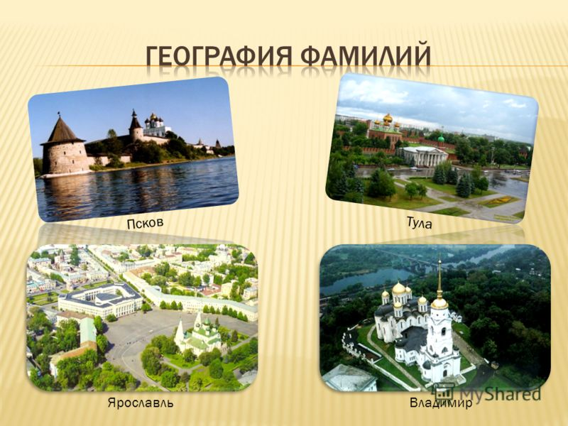 Псков ЯрославльВладимир Тула
