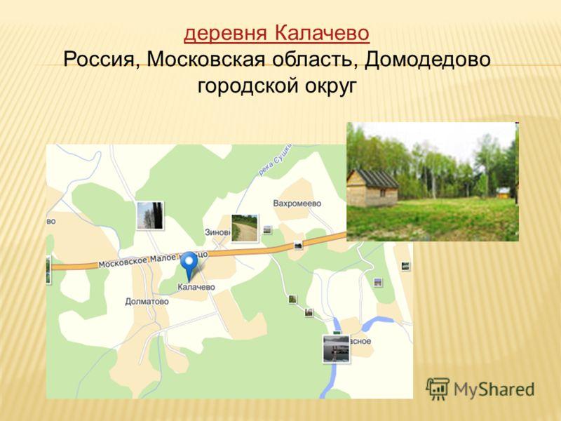 деревня Калачево Россия, Московская область, Домодедово городской округ