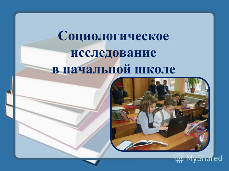 Социологическое исследование в начальной школе