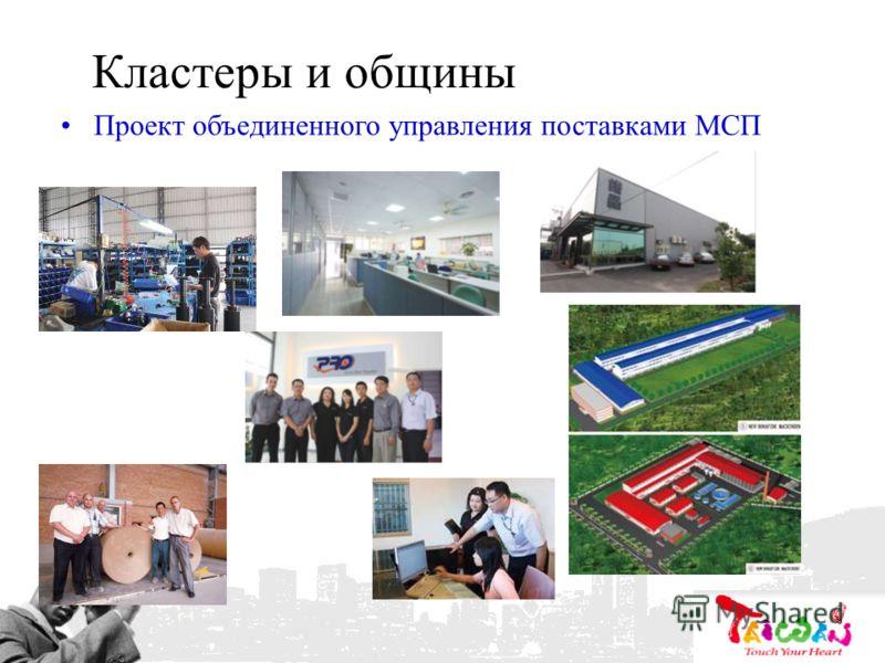 Кластеры и общины Проект объединенного управления поставками МСП