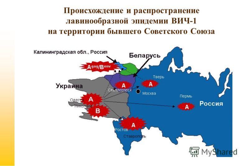 Происхождение и распространение лавинообразной эпидемии ВИЧ-1 на территории бывшего Советского Союза