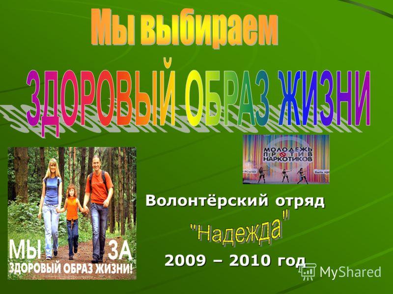 Волонтёрский отряд 2009 – 2010 год