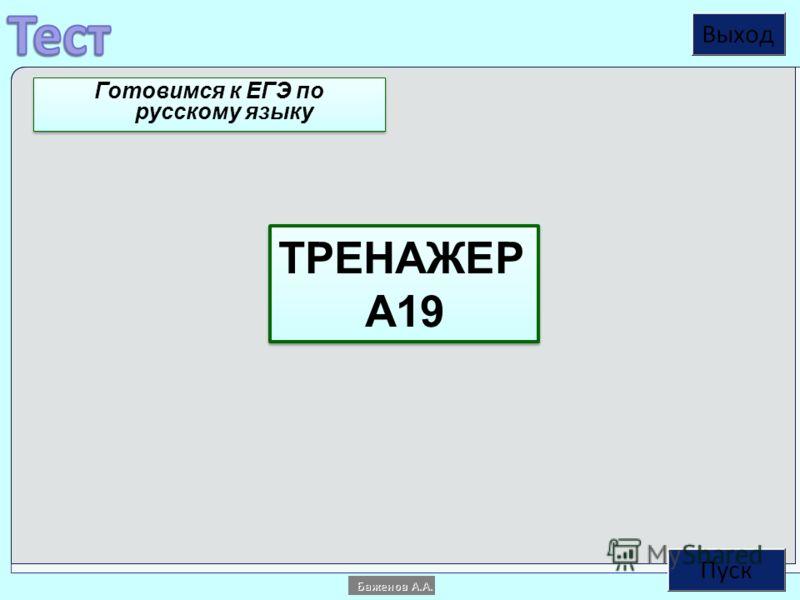 ТРЕНАЖЕР А19 ТРЕНАЖЕР А19