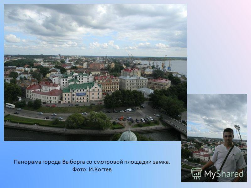 Панорама города Выборга со смотровой площадки замка. Фото: И.Когтев