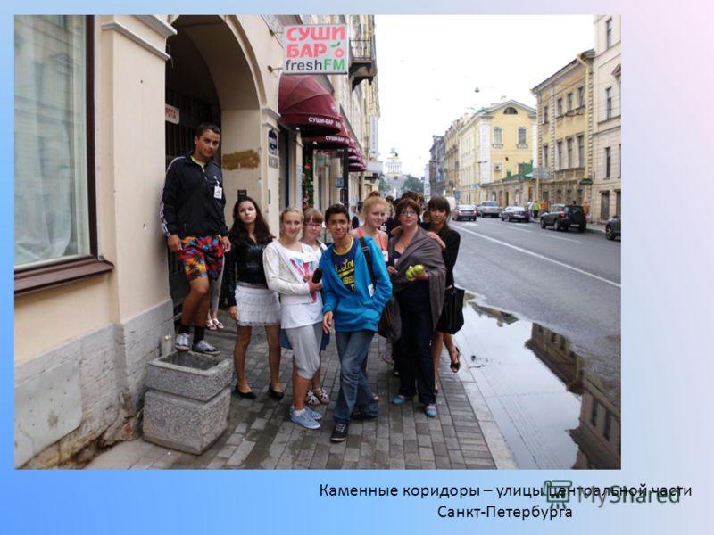 Каменные коридоры – улицы центральной части Санкт-Петербурга