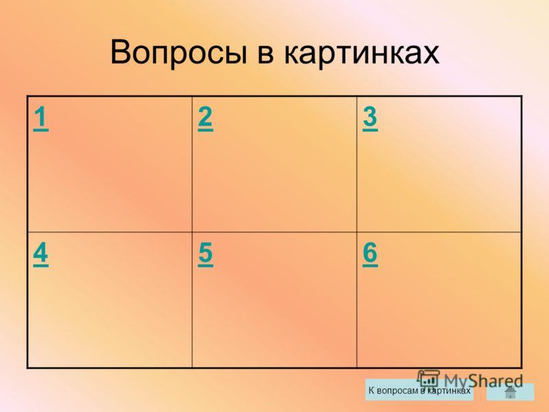 Вопросы в картинках 123 456 К вопросам в картинках