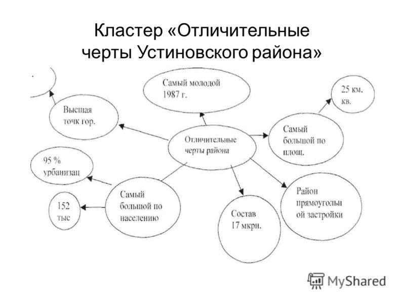 Кластер «Отличительные черты Устиновского района»