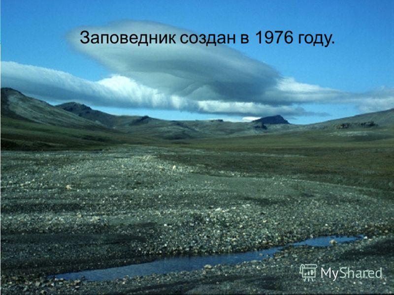 Заповедник создан в 1976 году.