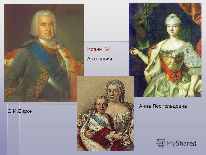 Акользин 2004г.25 Э.И.Бирон Анна Леопольдовна Иоанн VI Антонович
