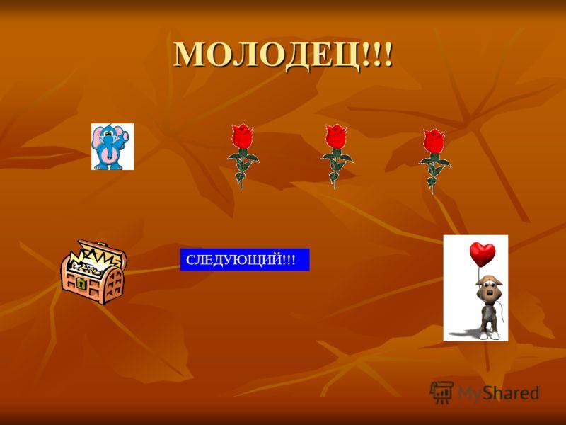 МОЛОДЕЦ!!! СЛЕДУЮЩИЙ!!!