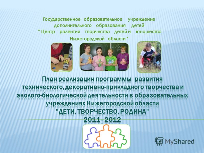 Государственное образовательное учреждение дополнительного образования детей  Центр развития творчества детей и юношества Нижегородской области