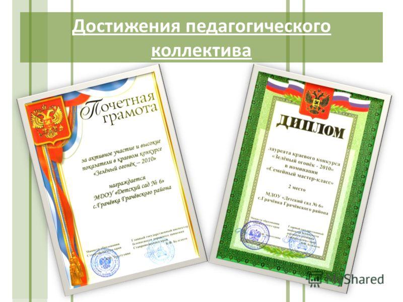 Достижения педагогического коллектива