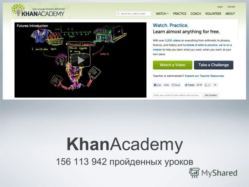 KhanAcademy 156 113 942 пройденных уроков