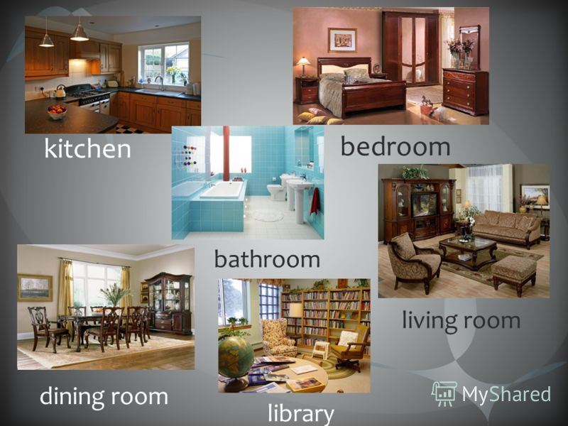 kitchen bedroom bathroom dining room library living room