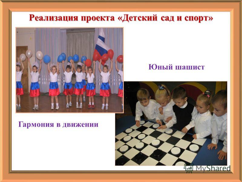 Реализация проекта «Детский сад и спорт» Гармония в движении Юный шашист