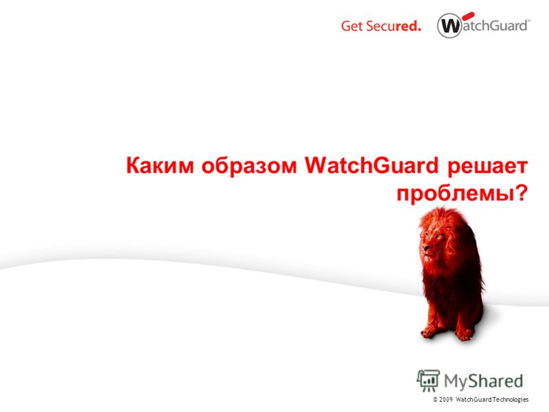 © 2009 WatchGuard Technologies Каким образом WatchGuard решает проблемы?