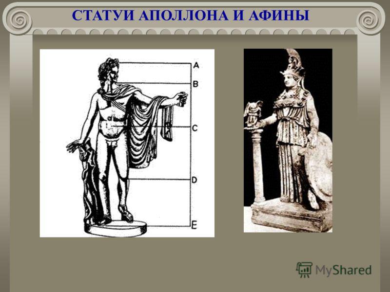 СТАТУИ АПОЛЛОНА И АФИНЫ