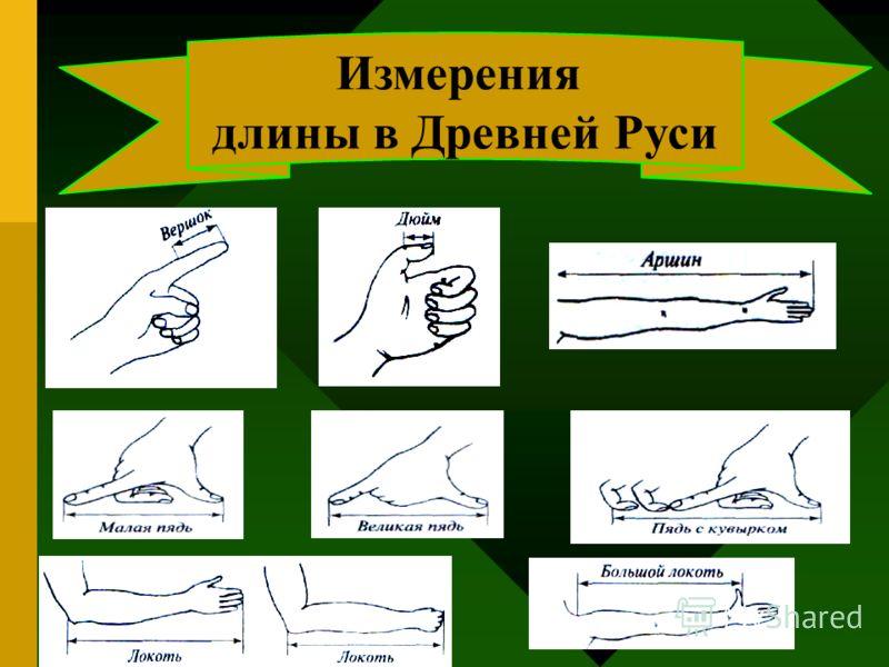 Измерения длины в Древней Руси