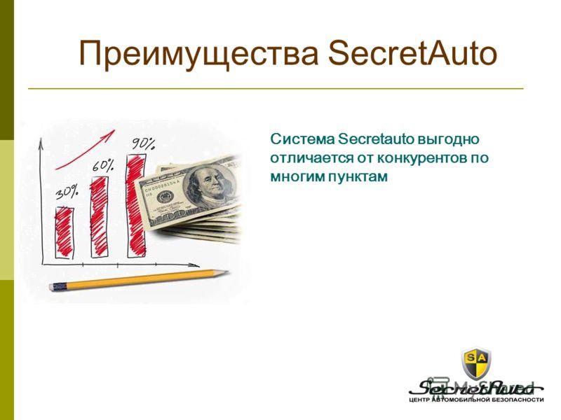 Преимущества SecretAuto Система Secretauto выгодно отличается от конкурентов по многим пунктам