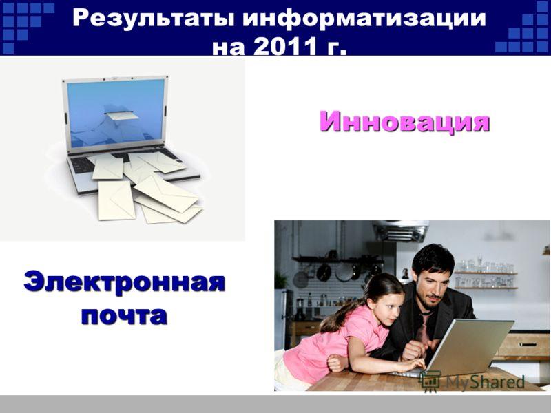 Инновация Электронная почта Результаты информатизации на 2011 г.