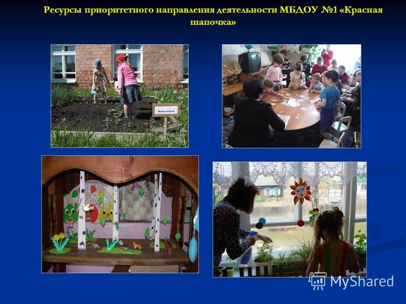 Ресурсы приоритетного направления деятельности МБДОУ 1 «Красная шапочка»