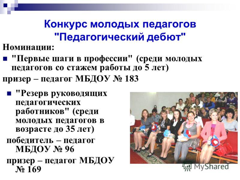 Конкурс молодых педагогов