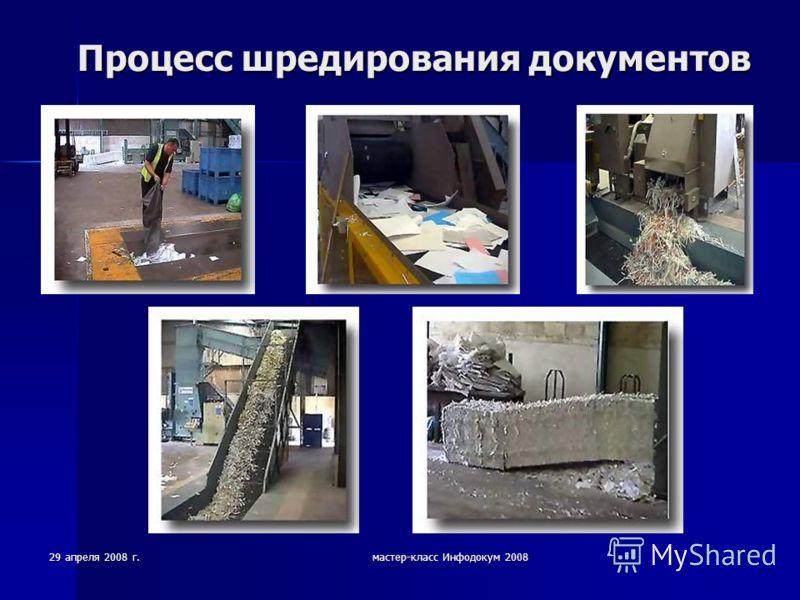 29 апреля 2008 г.мастер-класс Инфодокум 2008 Процесс шредирования документов