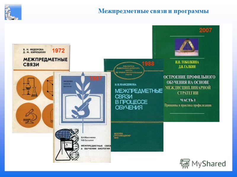 . Межпредметные связи и программы 2007 1988 1987 1972