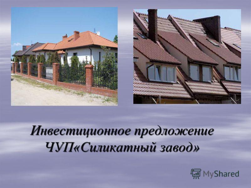 Инвестиционное предложение ЧУП«Силикатный завод»