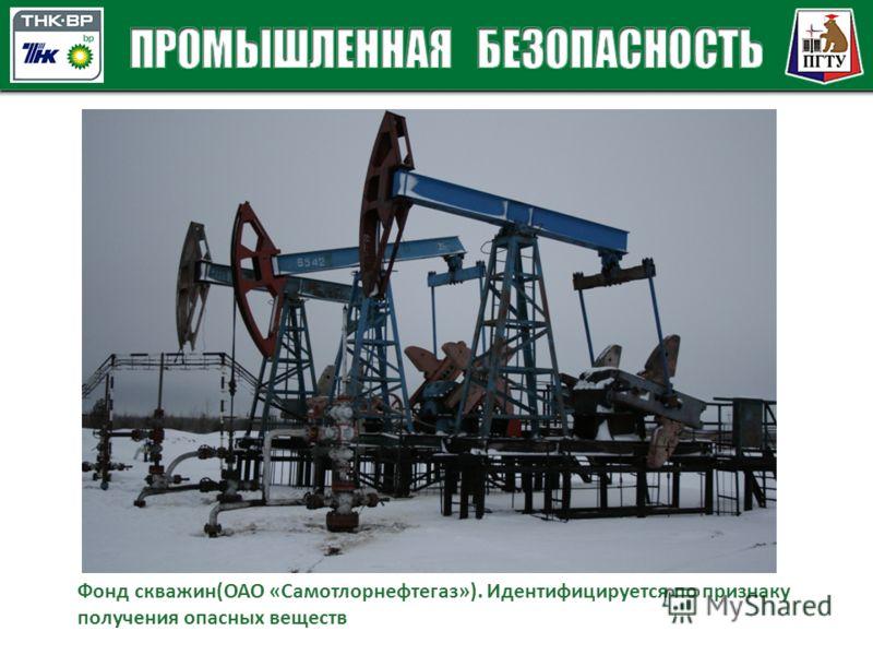 Фонд скважин(ОАО «Самотлорнефтегаз»). Идентифицируется по признаку получения опасных веществ