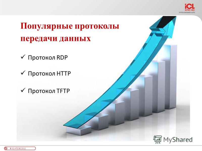 © ICL-КПО ВС 2012 Протокол RDP Протокол TFTP Протокол HTTP Популярные протоколы передачи данных