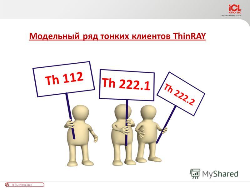 © ICL-КПО ВС 2012 Модельный ряд тонких клиентов ThinRAY Th 222.2 Th 222.1 Th 112