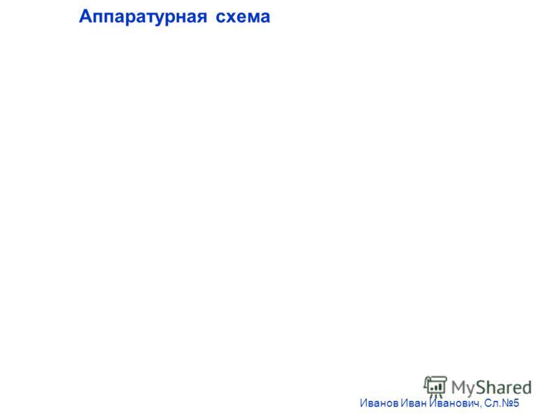 Аппаратурная схема Иванов Иван Иванович, Сл.5