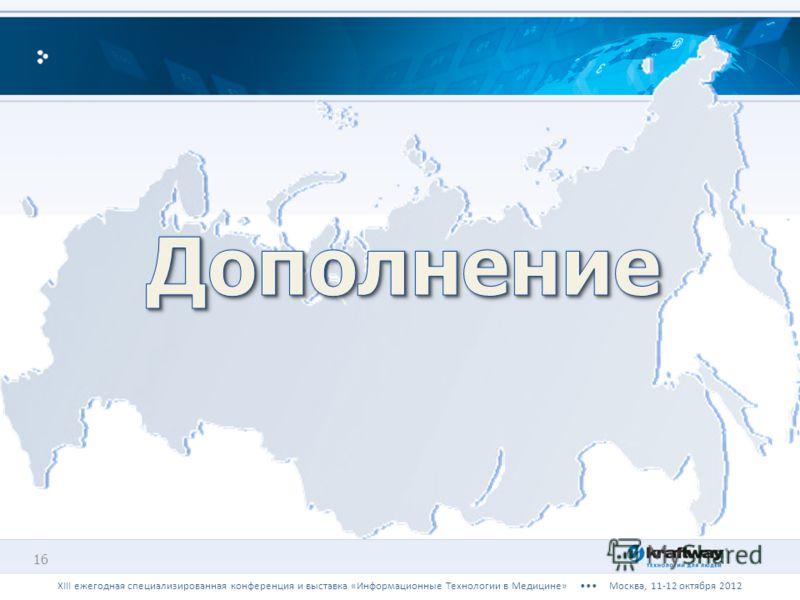 16 XIII ежегодная специализированная конференция и выставка «Информационные Технологии в Медицине» Москва, 11-12 октября 2012