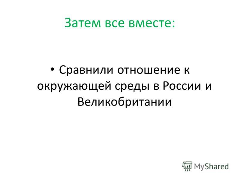 Затем все вместе: Сравнили отношение к окружающей среды в России и Великобритании