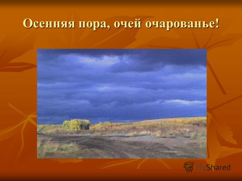 Осенняя пора, очей очарованье!